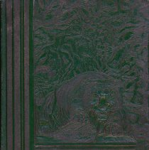 "Image of Calumet High School Yearbook, Temulac, 1935 - This item is a 1935 ""Temulac"" yearbook from Calumet High School in Chicago Illinois.  The cover is green with the image of a lion.  Prior to the opening of the Oak Lawn High Schools, some local residents attended Calumet High."