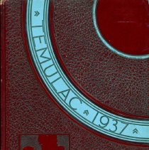 "Image of Calumet High School Yearbook, Temulac, 1937 - This item is a 1937 ""Temulac"" yearbook from Calumet High School in Chicago Illinois.  The cover is red with light blue.  Prior to the opening of the Oak Lawn High Schools, some local residents attended Calumet High."