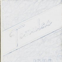 "Image of Calumet High School Yearbook, Temulac, 1940 - This item is a 1940 ""Temulac"" yearbook from Calumet High School in Chicago Illinois.  The cover is light blue with several markings.  Prior to the opening of the Oak Lawn High Schools, some local residents attended Calumet High."