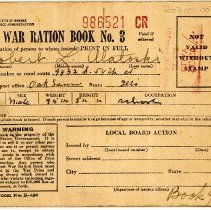 Image of War Ration Book No. 3