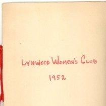Image of 1952 Lynwood Women's Club Directory