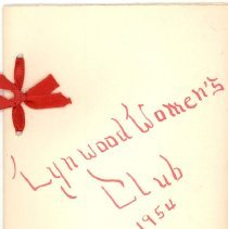 Image of 1954 Lynwood Women's Club Directory