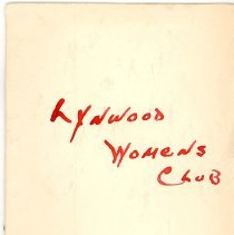 Image of 1959 Lynwood Women's Club Directory
