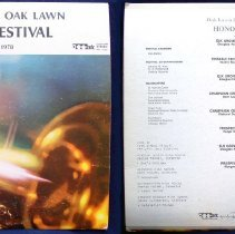 Image of Oak Lawn Jazz Festival, 1978 - This item is a 33 1/3  RPM record featuring the 1978 Oak Lawn Jazz Festival.  It was distributed by Mark Custom Records and the front has an image of a trumpet.  The festival took place at Oak Lawn Community High School.