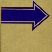 Image of Covington School Yearbook, 1981 - This item is the 1980 - 1981 Covington School yearbook.  The cover is gold with a blue arrow.