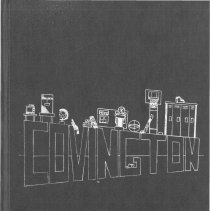 "Image of Covington School Yearbook, 1985 - This item is the 1984 - 1985 Covington School yearbook.  The cover has the name ""Covington"" in large letters with various school related items."