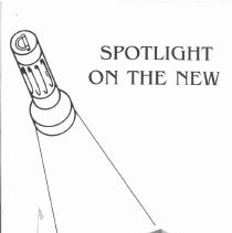 Image of Covington School Yearbook, 1995 - This item is the 1994 - 1995 Covington School yearbook. The cover has an image of a giant flashlight shining down on the Covington School building.
