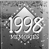 Image of Covington School Yearbook, 1998 - This item is the 1997 - 1998 Covington School yearbook. The cover has an image of confetti falling around the title.