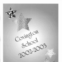 Image of Covington School Yearbook, 2003 - This item is the 2002 - 2003 Covington School yearbook. The cover has an image of stars surrounding the title.