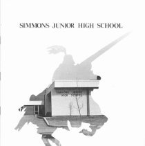 Image of Simmons School Yearbook, 1977 - This item is the 1976 - 1977 yearbook from Simmons School.  The cover has an image of the Simmons School building.