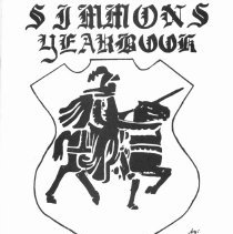 Image of Simmons School Yearbook, 1978 - This item is the 1977 - 1978 yearbook from Simmons School.  The cover has an image of a knight riding a horse.