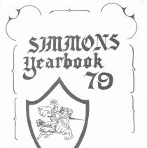 Image of Simmons School Yearbook, 1979                    - This item is the 1978 - 1979 yearbook from Simmons School.  The cover has an image of a knight riding a horse.