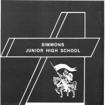 Image of Simmons School Yearbook, 1985 - This item is the 1984 - 1985 yearbook from Simmons School.  The cover has an image of a knight riding a horse.