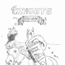 Image of Simmons School Yearbook, 1990 - This item is the 1989 - 1990 yearbook from Simmons School.  The cover has an image of a knight riding a horse.