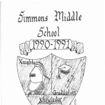 Image of Simmons School Yearbook, 1991 - This item is the 1990 - 1991 yearbook from Simmons School.  The cover has an image of a shield.
