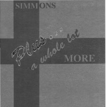Image of Simmons School Yearbook, 1994 - This item is the 1993 - 1994 yearbook from Simmons School.  The cover has several stripes that run vertically and horizontally.