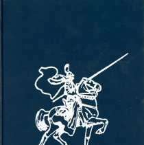 Image of Simmons School Yearbook, 1995 - This item is the 1994 - 1995 yearbook from Simmons School.  The cover has an image of a knight riding a horse.