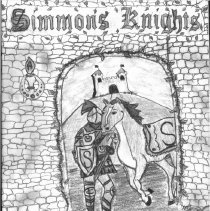 Image of Simmons School Yearbook, 2001 - This item is the 2000 - 2001 yearbook from Simmons School.  The cover has an image of a knight standing in front of a castle.