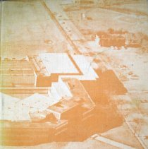 "Image of Blue Island Community High School Yearbook: Chips, 1962 - This item is the 1962 ""Chips"" yearbook for Blue Island Community High School.  The cover is orange and features an aerial photograph of the school.  Prior to the opening of the Oak Lawn High Schools, some local residents attended Blue Island High."