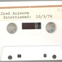 Image of Aulwurm, Alfred - Oral History Interview - This item is an oral history interview with Alfred Aulwurm. It is approximately thirty-one minutes long and covers his life and experiences in Oak Lawn, focusing on his involvement with the Southwest Symphony Orchestra.