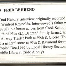 Image of Behrend, Fred - Oral History Interview