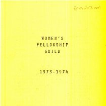 Image of Pilgrim Faith Women's Guild Directory Pamphlet, 1973 - 1974