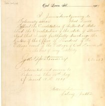 Image of James Montgomery's Oath of Office