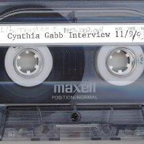 Image of Gabb, Cynthia - Interview