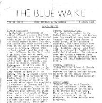 Image of The Blue Wake Military Newsletter