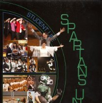 Image of Shield, 2010 - This item is an Oak Lawn Community High School yearbook from 2010.  The cover is black with green lettering and features photos on the left side.