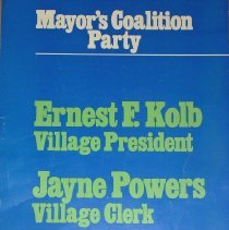 Image of Mayor's Coalition Party Election Poster