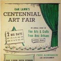 Image of Oak Lawn Centennial Art Fair Poster