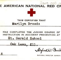 Image of American Red Cross Documentation Card