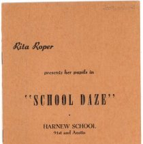 "Image of Harnew  ""School Daze"" Program"