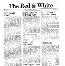 Image of The Red & White Newsletter