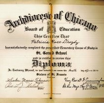 Image of St. Gerald Diploma