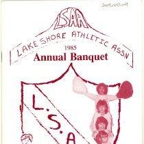 Image of Lake Shore Athletic Association Annual Banquet Program, 1985