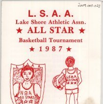 Image of Lake Shore Athletic Association Basketball Tournament Program, 1987