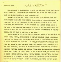 Image of Thank You Letter from John Weigand to Lou Novinson