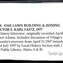 Image of Faitz, Everett Karl - Oral History Interview