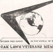 Image of Designs for the Proposed Oak Lawn Veteran's Memorial