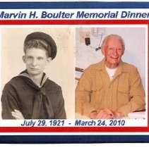 Image of Invitation to Marvin H. Boulter Memorial Dinner