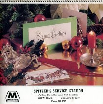 Image of Spitzer's Calendar, 1986 - This item is a 1986 calendar from Spitzer's Service Station located at 5500 West 95th Street.  The calendar features photographs of outdoor scenes.