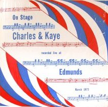 Image of Charles and Kaye Recorded at Edmund's Restaurant - This item is a 33 1/3 audio record featuring local musicians Jack Charles and Andy Kaye.  It was recorded live at Edmund's Restaurant in March of 1973.  There are nine tracks in total, and it was published by Charkaya Records.