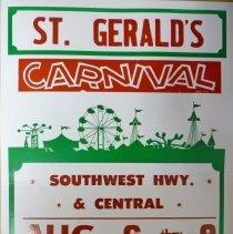 Image of St. Gerald Summer Carnival Poster