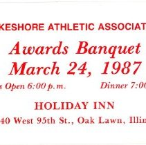 Image of Lake Shore Athletic Association Awards Banquet Ticket