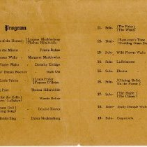 Image of Concert Program for a Piano Recital at the Oak Lawn Methodist Episcopal Chu