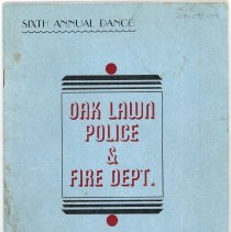 Image of Program for the Sixth Annual Oak Lawn Police and Fire Department Dance