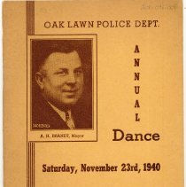 Image of Program for the Annual Oak Lawn Police Department Dance