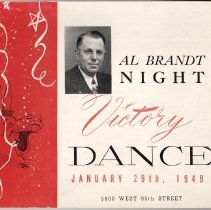 Image of Program for the Al Brandt Victory Dance